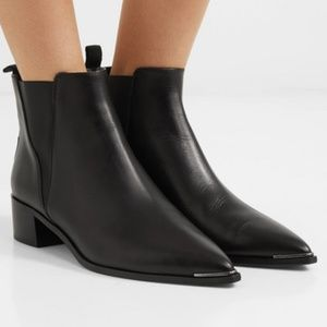 Acne Black leather booties 37 with original box